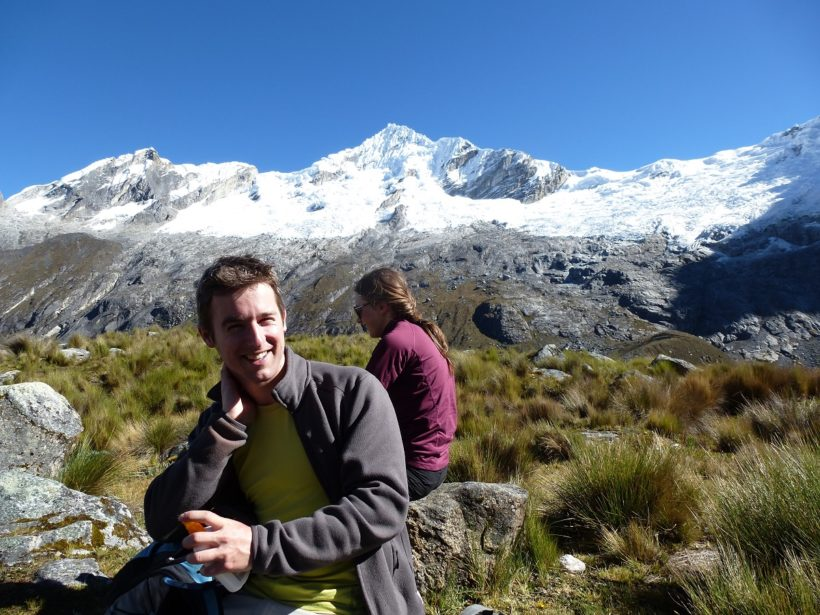 Rest in front of the Rinrijirca mountain