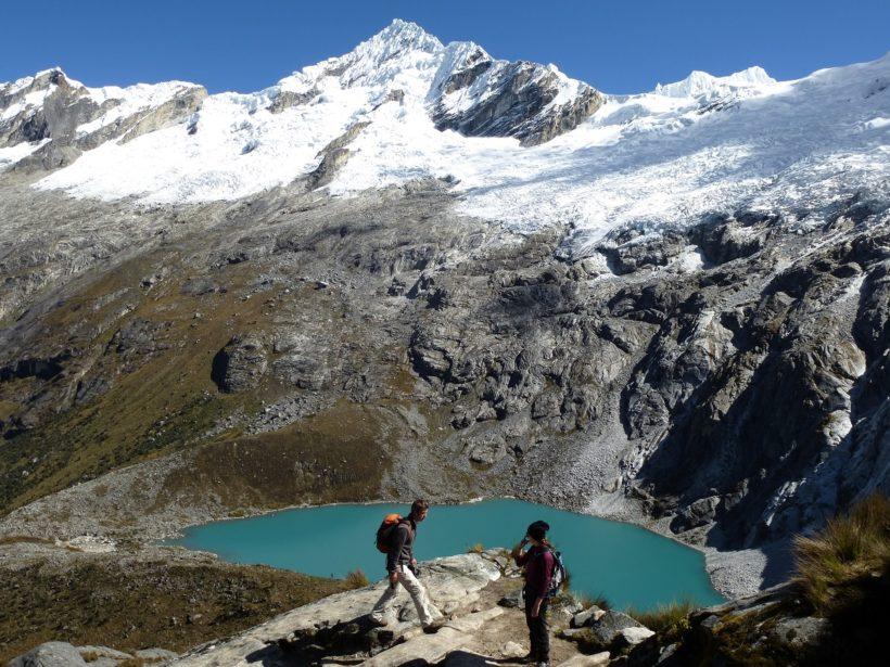 View of Rinrijirca Pucajirca Mountain, and Taullicocha lake
