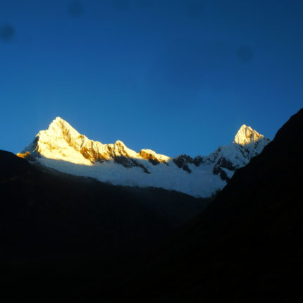 Sunrise in the Cordillera Blanca