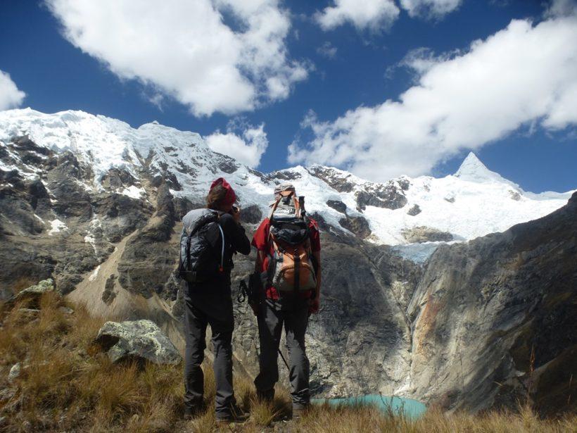 Beautiful view of the alpamayo mountain