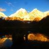 The sunrise reflection